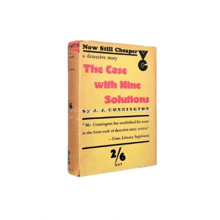 The Case With Nine Solutions by J.J. Connington Early Reprint Victor Gollancz 1934